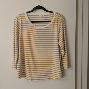 COS Striped 3/4 Sleeve Tee